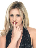Secretive Young Woman — Stock Photo