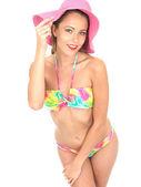 Attractive Sensual Woman Pin Up Model in a Bikini — Stock Photo