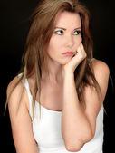 Sad Unhappy Young Woman — Stock Photo