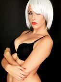 Sexy Young Woman Wearing Black Bra — Stock Photo
