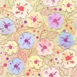 Stok Vektör: Seamless abstract floral background