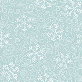 Blue pattern with snowflakes — Stok Vektör