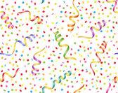 Bakgrund med streamer och konfetti — Stockvektor