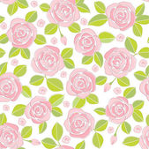 Pink roses (background) — Stock Vector