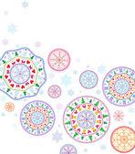 �ard with stylized Christmas snowflake. — 图库矢量图片