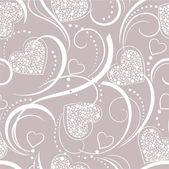 Фон с сердечками — Cтоковый вектор