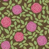 Resumen antecedentes con rosas — Vector de stock
