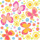 Background with butterfly — Stock Vector