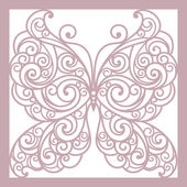 Pink abstract background with butterfly — Stock Vector