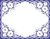 Vector greeting frame, lacy napkin — Vector de stock