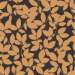 Vettoriale Stock : Seamless floral background with leaves