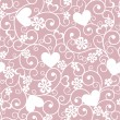 Stock Vector: Background with hearts