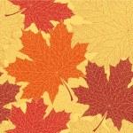 Seamless autumn leaves pattern — Stock Vector