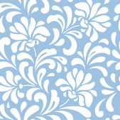 Seamless blue floral background — Stock Vector
