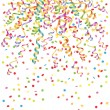 Stock Vector: Background with streamer and confetti