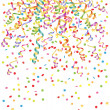 Background with streamer and confetti — Stock Vector #38923923