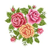 Bouquet of the roses — Stockvector
