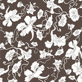 Seamless  abstract  floral   background — Stock vektor