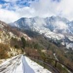 Apuan Alps snow — Stock Photo #17655673