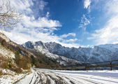 Apuan Alps snow — Stock Photo