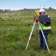 Engineer with theodolite — Stock Photo