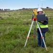 Engineer with theodolite — Stock Photo #20873741