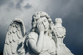 Funerary statue — Stock Photo