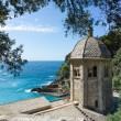 San Fruttuoso, Ligurian coast - Stock Photo