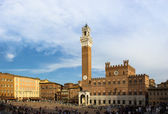 Siena , square of Campo — Stock Photo