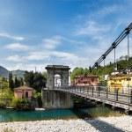 Tuscany, the Chain Bridge in Bagni di Lucca — Stock Photo #44753935