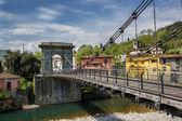 Tuscany, the Chain Bridge in Bagni di Lucca — Stock Photo