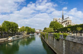 Paris, view of notre dame — Stock Photo