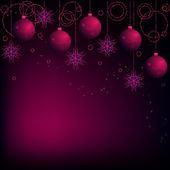 Dark pink and violet christmas background — Stock Vector