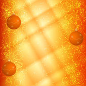 Orange christmas background — Stock Vector