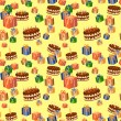 Seamless birthday pattern — Stok Vektör