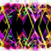 Arbres de noël transparente brillante — Vecteur