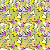 Bezešvé motýli — Stock vektor
