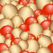 Seamless christmas balls — Stock Vector