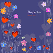 Floral love background — Vettoriale Stock