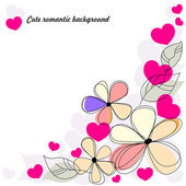 Cute romantic background — Stock Vector