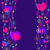 Romantico sfondo floreale, senza soluzione di continuità — Vettoriale Stock