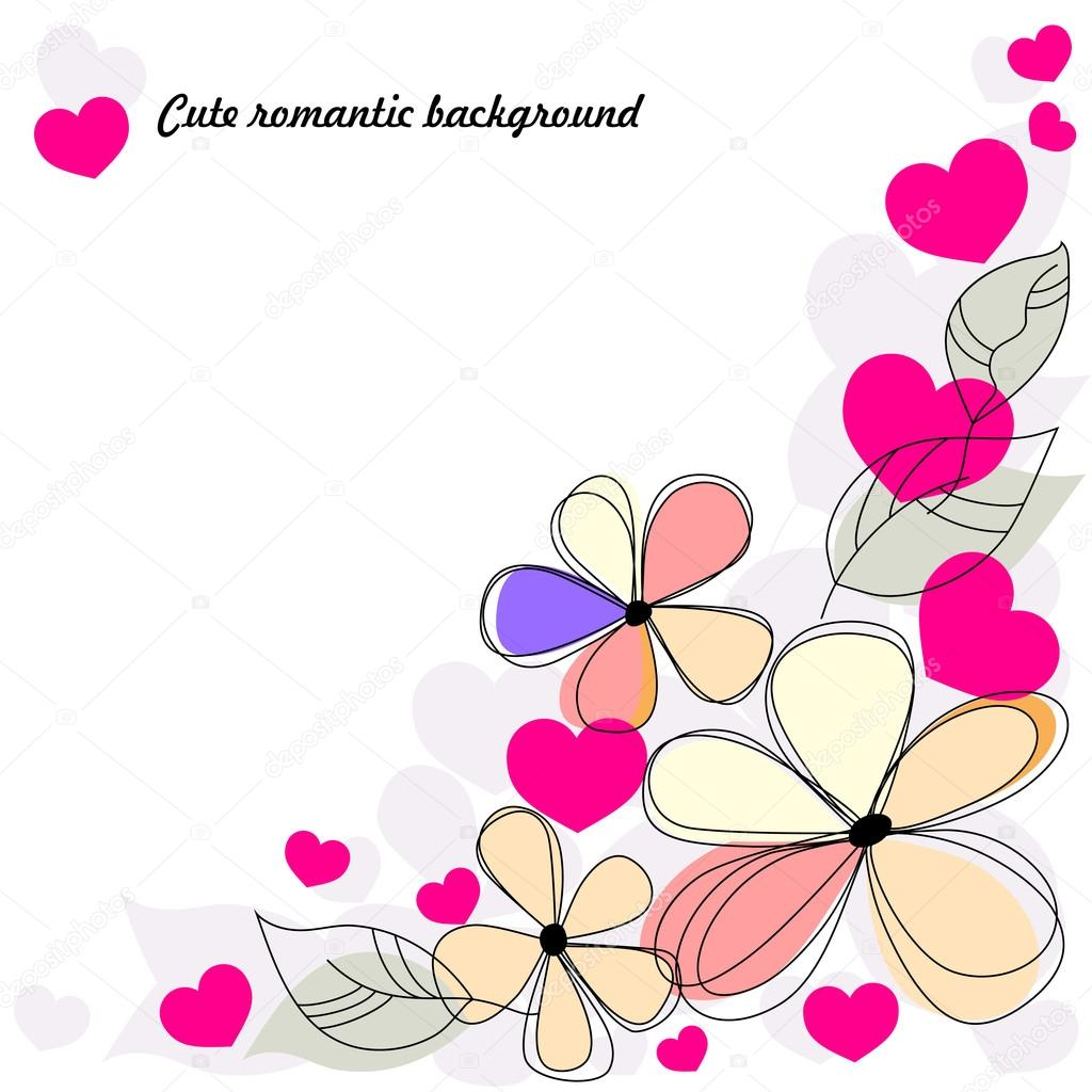 Cute romantic background  Stock Vector #17035305