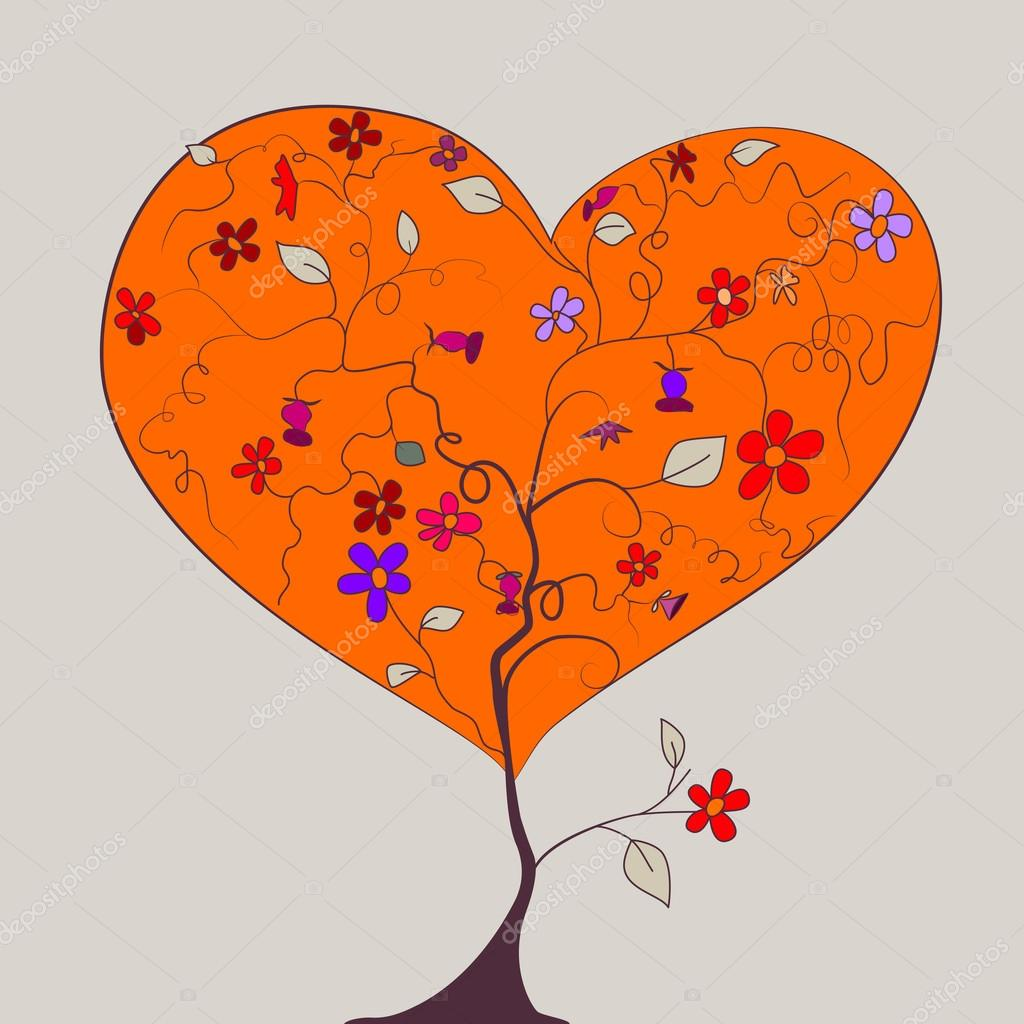 Heart shaped tree — Stock Vector #19168335