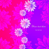 Beautiful floral card — Stock Vector