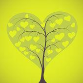 Heart shaped tree — Stock Vector