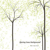 Spring trees background — Stock Vector