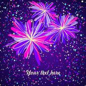 色彩鲜艳的花卉卡 — 图库矢量图片