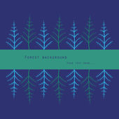 Fondo forestal — Vector de stock