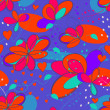 Crazy seamless flowers — Stockvectorbeeld