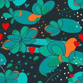 Crazy sömlös blommönster — Stockvektor